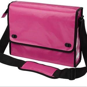 IKEA UPPTÄCKA Pink (Blue Interior) Messenger Bag